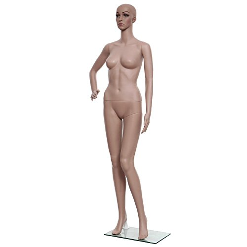 Get Cownic Female Full Body PE Plastic Realistic Mannequin Adjustable Standing Dummy Shop Window Flesh Tone Stand (Style 2) Review
