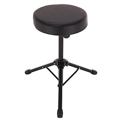 Multiware Folding Drum Stool Music Guitar Keyboard Throne Piano Chair Double Padded Seat - cheap UK light store.