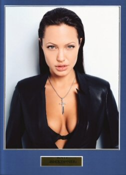 Click for larger image of ANGELINA JOLIE  HIGH QUALITY MOUNTED PHOTO PRINT