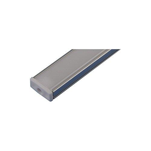 Jandei - Perfil Aluminio Tira led 2 Metros Superficie con Tapa traslúcida...
