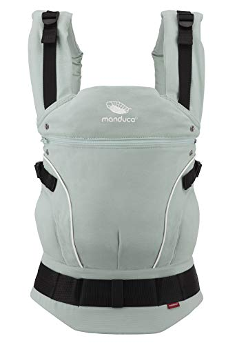 manduca First Babytrage > PureCotton Mint < Ergonomische Baby und Kindertrage Bio-Baumwolle Neue Stoff-Qualität (Soft & Fusselfrei) Bauch Hüft- und Rückentrage für Kinder von 3,5-20 kg, mint-grün