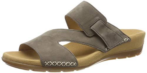 Leder-futter Maultiere (Gabor Shoes Damen Jollys Pantoletten, Braun (Wallaby 13), 39 EU)