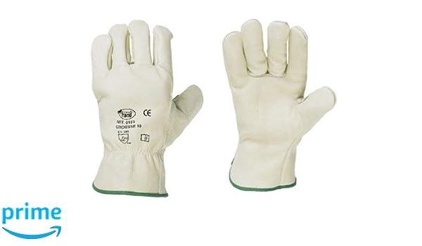Winter Gants de cuir de vache complet avec Molton 11/+ 1/paire de protection auditive Bouchon tailles: 9 handsch uhman