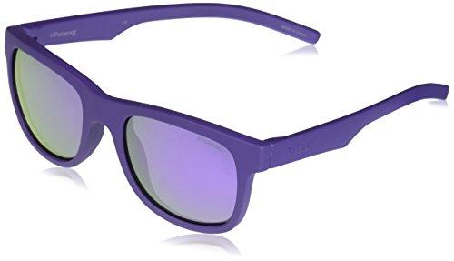Polaroid Unisex-Kinder PLD 8020/S MF 2Q1 46 Sonnenbrille, Violett (Violet/Grey),