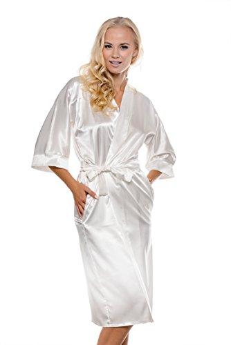 MICHELLE - Robe de Chambre - à partir de la collection de Sophie Bernard. Sentir à l'aise! ecru (blanc)