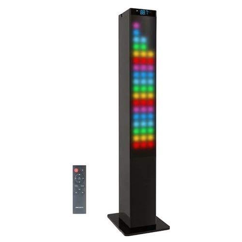 Majestic TS 91 BT USB AX - Altoparlanti a Torre con Bluetooth, Pannello Luminoso Multicolore 72 Led, Ingressi Usb/aux-in, Radio Fm, Telecomando, Nero