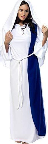 Fancy Me Damen Jungfrau Maria Weihnachten Geburt Religiös Kostüm Kleid Outfit - Weiß, Weiß, UK 12-14