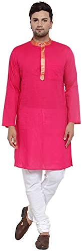 NEUDIS by Dhrohar Cotton Long Kurta & Churidar Pajama Set For Men -