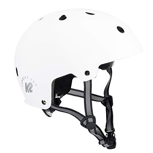K2 Damen Herren Inline Skates Helm VARSITY PRO - Weiß - L (59-61cm) - 30D4110.1.1.L -