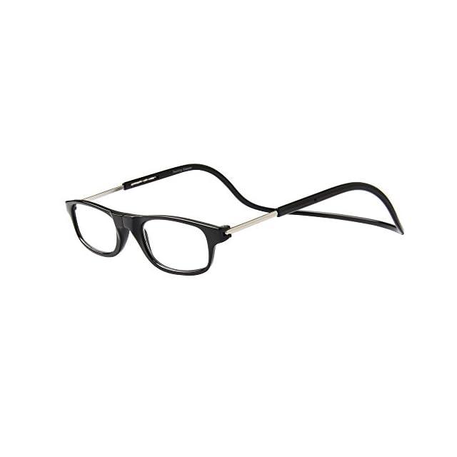 Jee Lunettes de Lecture Lunettes de vue homme femme reading glasses aimant  OL02(noir, ... 750031abb442