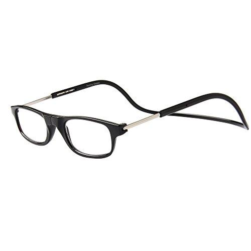 Gafas De Lectura Hombre Mujer Reading Glasses Con Iman OL02(Negro,+2.50)