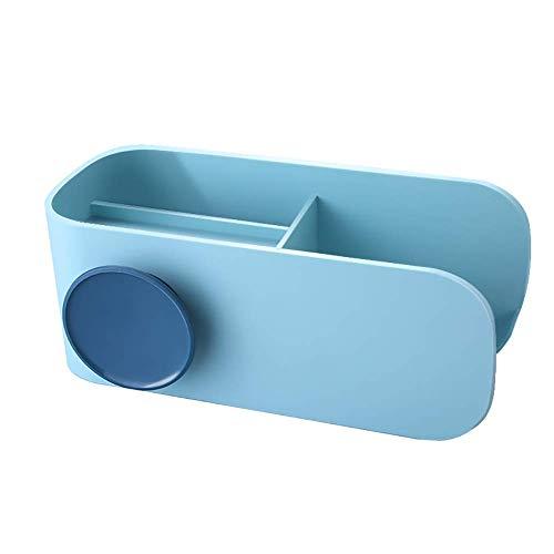 FYLD Haartrockner-Halter, Wandmontage-Schlag-Föhn-Rack mit Kabinetten, Styling-Werkzeug-Organisator-Speicher-Regal für Haartrockner, Premium-tiefes Blau,Lightblue -
