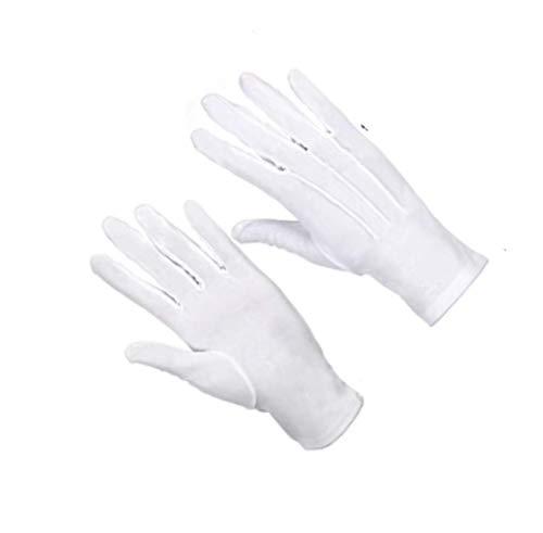 LEEQ 2 Paar Nylon Baumwolle Handschuhe für Polizei formelle Smoking Honor Guard Parade Kostüm (weiß) (Tuxedo Kostüm Kinder)