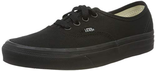 Vans Authentic Classic, Unisex Adult Low Top Lace-up Trainers, Black/black, 11 UK (46 EU)