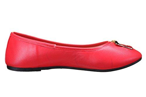 Creamberry S Ballerines Femme 817 Rouge Rouge