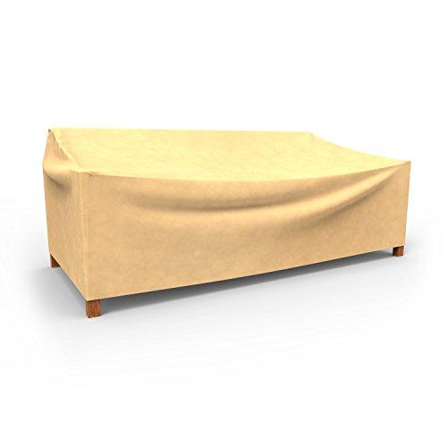 Budge Allwetter-Abdeckung für zweisitzige Gartensofas, Large, P3W06SF1, hellbraun (88,90 x 147,32 x 96,52 cm [H x B x T])