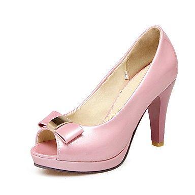 LvYuan Da donna-Sandali-Formale Casual Serata e festa-Altro-Quadrato-PU (Poliuretano)-Rosa Bianco Tessuto almond White