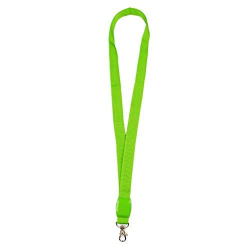 n Umhängeband Band Lanyard Schlüsselanhänger ID Abzeichen Hanging Lace Rope Grün ()