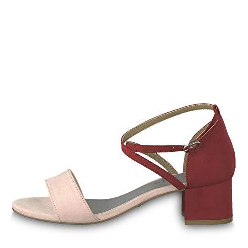 Tamaris Damen Sandaletten Rosa/Rot, Schuhgröße:EUR 41 -