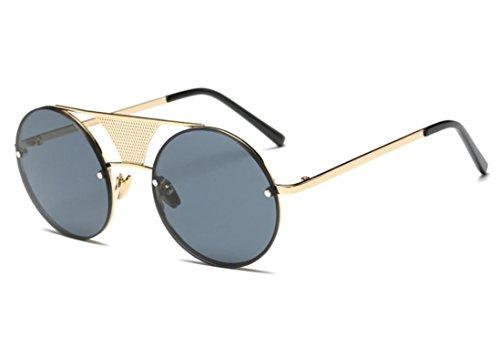 Occhiali da sole da donna uomo polarizzati - beautyjourney occhiali da sole donna rotondi vintage sunglasses cat eye finti occhiali da lettura finti ciclismo - moda uomo donne steampunk tondo (d)