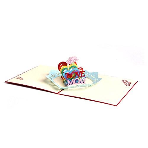 ZOOMY 3D Pop Up Liebe Mom Grußkarten Weihnachten Geburtstag Muttertag 13x15.5cm