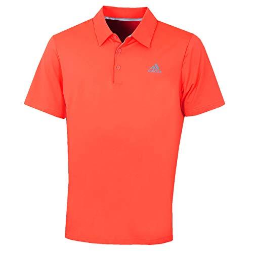 adidas Golf 2019 Ultimate 2.0 Solid Kurzarm-Golfpoloshirt für Herren Hi-Res Red Large - Red Golf-polo-shirt