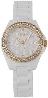 Coach Womens Quartz Watch, Analog Display and Ceramic Strap 14503254