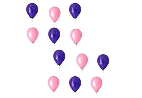 50 x Luftballons je 25 Lila / Violett und Rosa / Pink - ca. Ø 28cm - 50 Stück - Ballons als Deko, Party, Fest - Farbe Rosa / Pink & Lila / Violett- für Helium geeignet - Top Qualität -