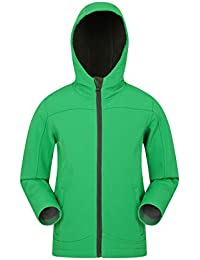 40f1e7650 Mountain Warehouse Exodus Kids Softshell Jacket - Breathable Childrens  Jacket, Showerproof Girls Coat, Fleece