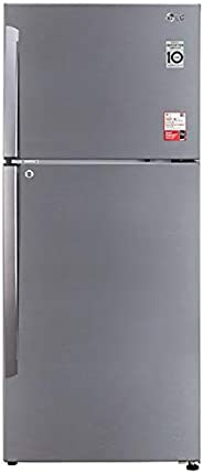 LG 437 L 2 Star Smart Inverter Frost-Free Double Door Refrigerator (GL-T432APZY, Shiny Steel, Convertible)