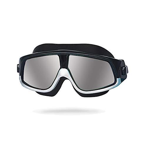 NAN® Unisex-Erwachsene Open Water Schwimmmaske Anti-Fog-Schutzbrille,Gray