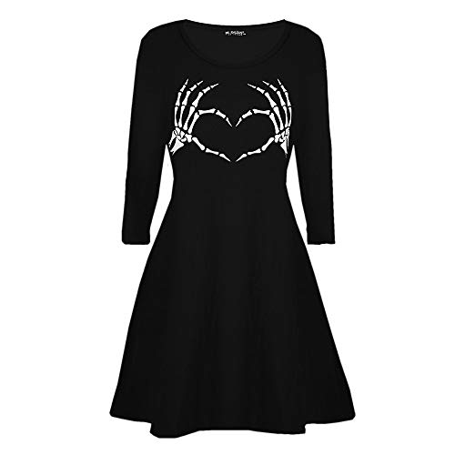 Kleider Damen Pullover Kleid Elegant Brautjungfernkleid Petticoat Lange Ärmel Hepburn Rockabilly...