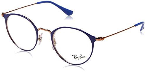 Ray-Ban Unisex-Erwachsene 0RX 6378 2972 49 Brillengestelle, Violett (Copper On Topo Violet),