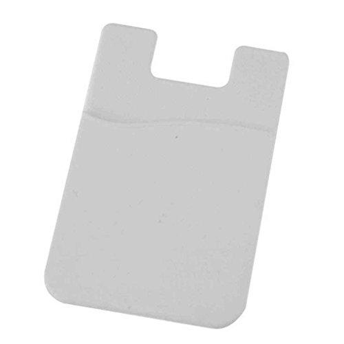 Timlatte Adhesive Silikon-Aufkleber-rückseitige Abdeckung Kartenhalter-Kasten-Beutel für Handy Smart Mobile Phone Mobile Kreditkarte