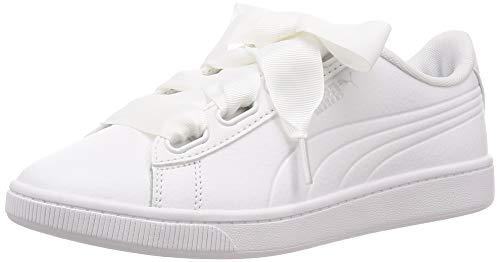 Puma Vikky v2 Ribbon Core, Damen Sneakers, Weiß (Puma White-Puma Silver), 42 EU