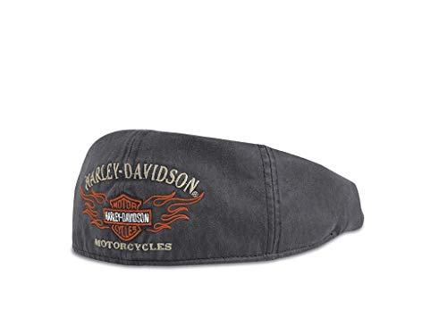 Harley-Davidson Flame Graphic Ivy Cap 99537-11VM Herren Hat, Schwarz, Beige, Orange, L