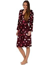bcae7a24961f Florentina Morbida Vestaglia da Donna in Pile con Cappuccio - Design di  Cuori