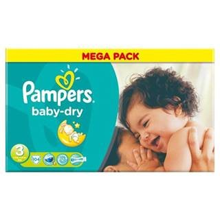 Pampers Baby Dry Size 3 (4-9kg) Mega Pack x 104 per pack