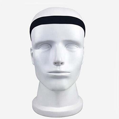 Eruditter Sport Stirnband Männer Frauen Kopf Schweißband Laufen Fußball Tennis Kopftuch Silikon Anti-Rutsch Elastische Schweißband Hairband (Winter Nike Stirnband)