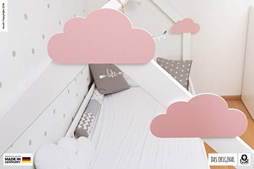 luvel (M6) – 3er Set XXL Wolken mit 3D-Effekt als Kinderzimmer Deko Wandtattoo Kinderzimmer 30×15 cm 5mm Kunststoff (rosa) - 7