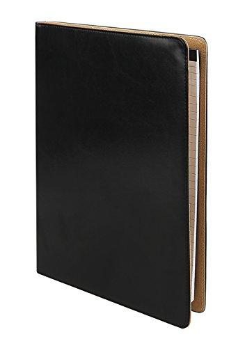 A4 klemmbrett Schreibmappe klemmbrettmappe Aktenmappe Ordnungsmappen Collegemappe mit Ringbuch inkl. A4-Schreibblock Taschenrechner Lederoptik