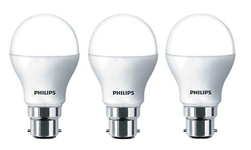 Philips Base B22 9-Watt LED Bulb (Pack of 3, Cool Day Light)