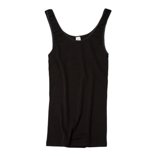 Damen Trägerhemd, Wolle Seide, Gr. 38/40, Schwarz (La-la-seiden-bh)