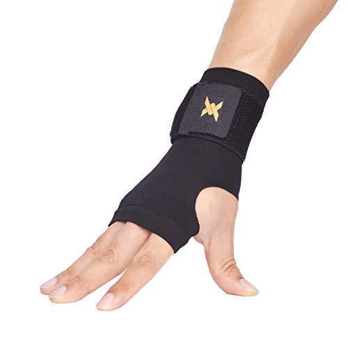 Thx4 Copper Wrist Support -Kupfer infundiert Compression Adjustable Wrist Brace Sleeve-Relief für Karpaltunnel, RSI, Sehnenentzündung, Arthritis, Verstauchungen und Müdigkeit-Ultra Thin-Single-S -