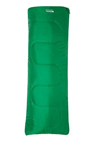 Mountain Warehouse Mini Sac de Couchage Basecamp 200 Le Camping - 160 x 65 cm, Lit Enfants, Lit de Voyage Facile à emporter Les Enfants Vert foncé Taille Unique