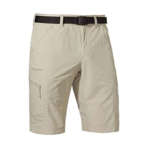 Schöffel Shorts Silvaplana2 Herren Hose, vielseitige Wanderhose mit separatem Gürtel, komfortable Outdoor Hose mit praktischen Taschen - Reißverschluss Gürtel