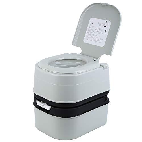 MuGuang Campeggio WC Viaggio toilette portatile per camper Caravan, appartamenti, giardini, navi, case di cura, ospedali