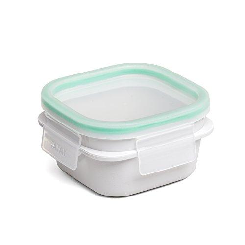 Tatay Click Clack Opak Táper, Plástico, Blanco, 21.2×10.4×5.9 cm