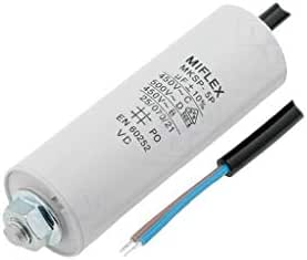 8uF 450V AC motor start capacitor Miflex 8mF wires