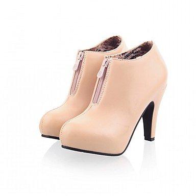 RTRY Scarpe Donna Pu Similpelle Autunno Inverno Comfort Novità Moda Stivali Stivali Stiletto Heel Round Toe Stivaletti/Stivaletti Zipper Per Party US5 / EU35 / UK3 / CN34